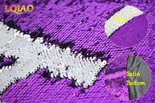 125x45 см реверсивная Русалка рыбья чешуя блесток ткань зеленый/розовое золото блесток ткань с пайетками для платьев/бикини/наволочки(Китай)
