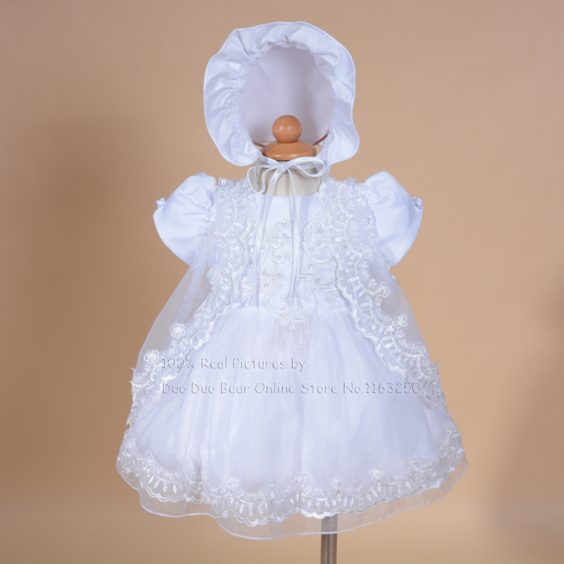 High Quality Baby Girl Dress Toddler Lace Christening Gown