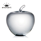 Home decoration crystal apple, paperweight with apple