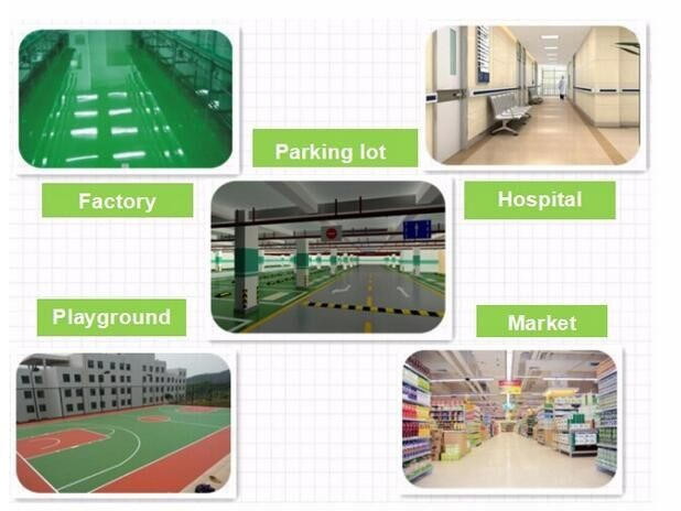 Self leveling anti slip epoxy floor paint for factory and warehouse