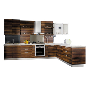 2018 newest modular commercial wood material melamine kitchen cabinet kitchen set