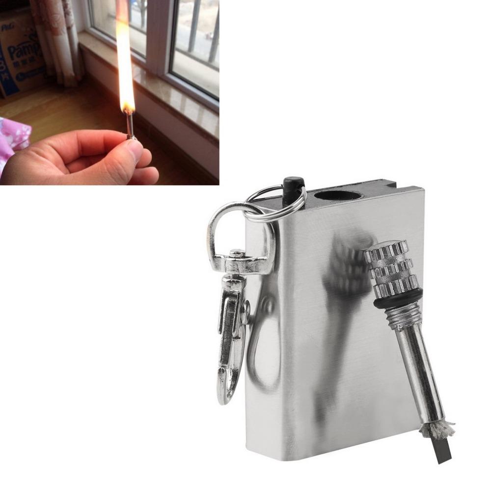 Emergency Fire Starter Флинт Матч Зажигалка Металл Открытый Отдых Туризм Мгновенный Инструмент Выживания Безопасность Прочный горячая