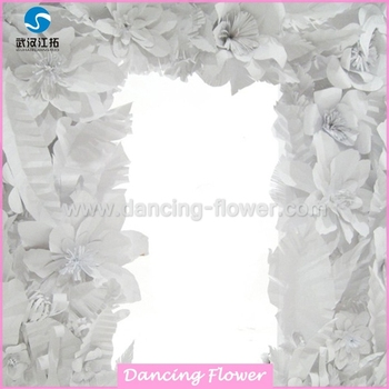White Giant Paper Flowers Wall For Big Day Wdag 57 Buy Giant Paper Flower Wall Large Paper Flowers Paper Flowers Sale Product On Alibaba Com