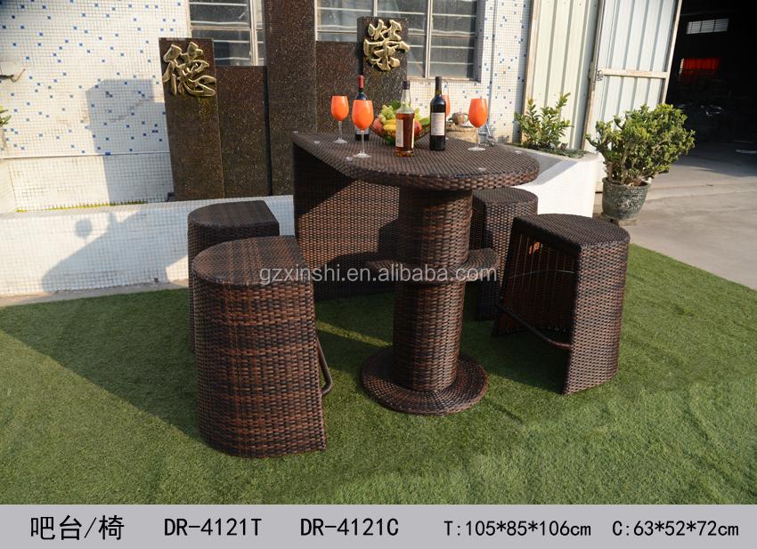 Juego De Jardín Al Aire Libre Bali Island Bar Muebles De Mimbre Del ...
