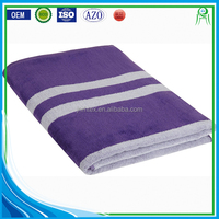 Custom 100% combea cotton stripe beach towels wholesale bulk