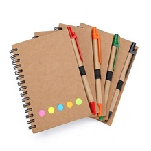 Spiraal Notebook met Pen Sticky Notes <span class=keywords><strong>Pagina</strong></span> Marker Gekleurde Tabs <span class=keywords><strong>Vlaggen</strong></span>