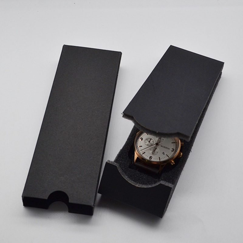 High Quality Custom Brand Unique Foldable Black Cheap Watch Gift Box