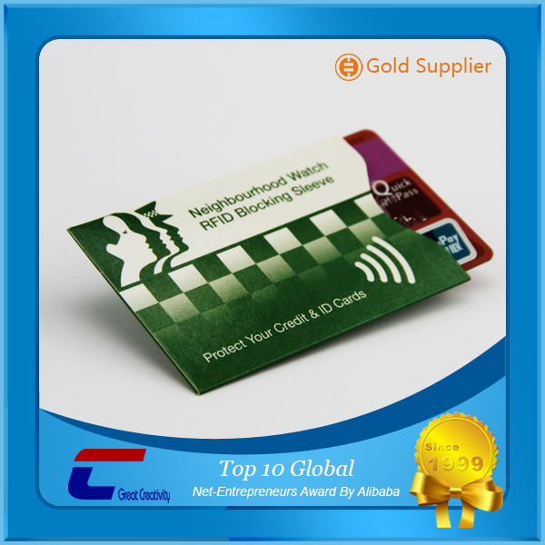 Credit Card Use and Aluminum Foil+Paper, Foil Material RFID Blocking Sleeves