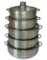 Aluminum caldero with glass cover 20-42cm aluminum cooking pot