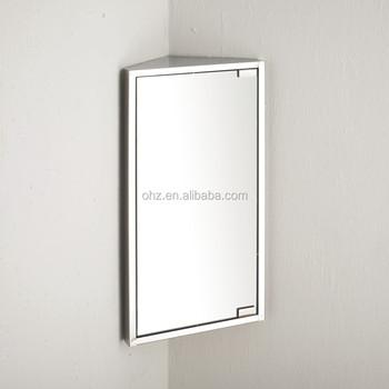 Stainless Steel Corner Bathroom Cabinet With Mirror - Buy Bathroom ...