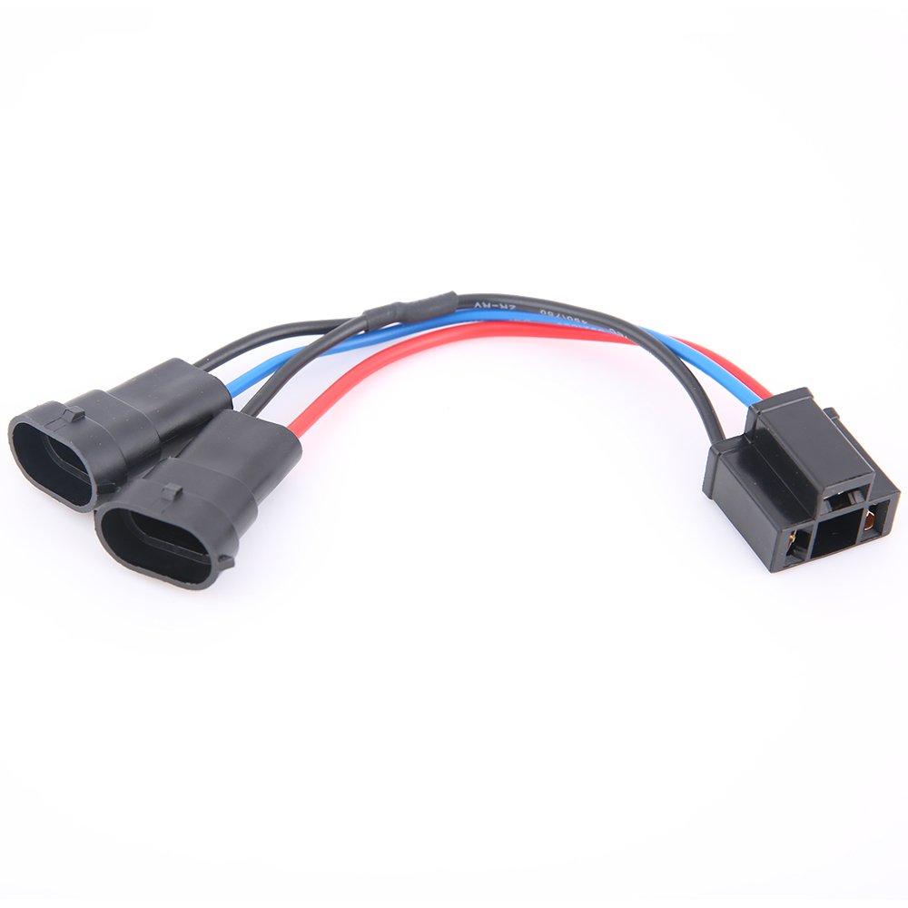 Buy TRUCKMALL H4 to H9/H11 Wire Harness Adapter for Dual Beam ... on wiring harness honda, wiring harness for volkswagen, wiring diagram for 1985 fxrs, wiring harness for kawasaki, wiring harness for jeep,