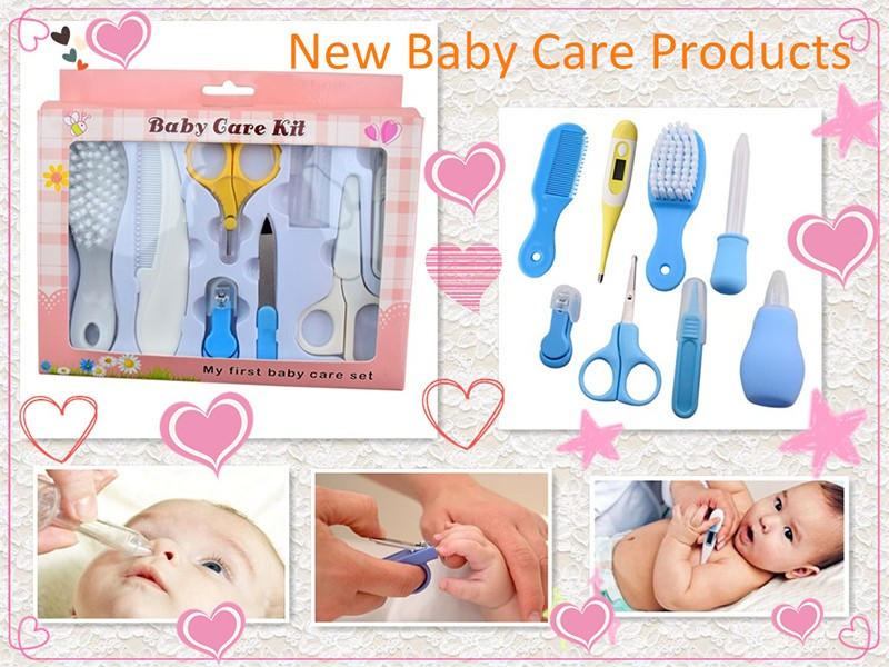baby grooming product nose cleaner / temperature / baby comb / finger clip baby care kit