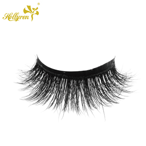 069584c2f6e 3D Luxury Dolly Makeup Eyeline Siberian real Real Mink Hair Eyelashes  Machine Made False Eyelashes Car