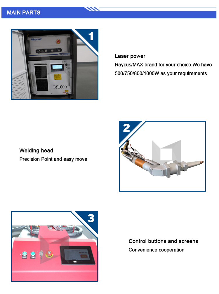 New production metal fiber laser welding head welding machine