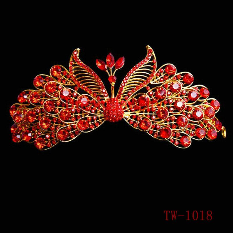 تيجان ملكية  امبراطورية فاخرة Pageant-Prom-Wedding-Bridal-Hair-Accessories-Bride