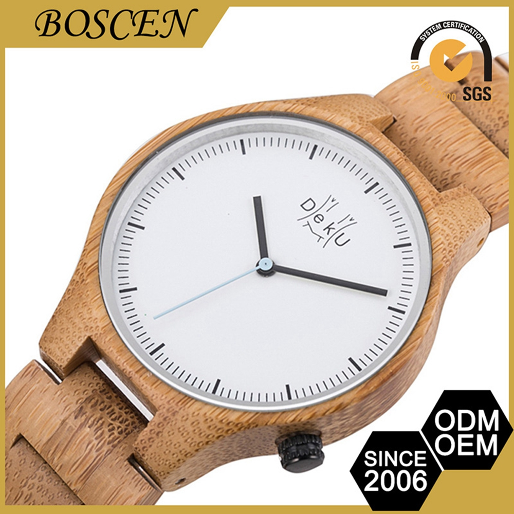 2017 Hot Quality Oem Adjustable Bracelet Indonesia Sandal Wooden Watch