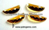 Citrine Semi Precious Gemstone Fancy Shape Cut Faceted Gems From Jaipur