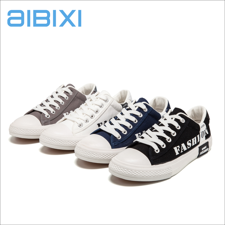 AIBIXI Odm New Style Cotton Durable And Breathable Flat Lace-Up Men Canvas Shoe