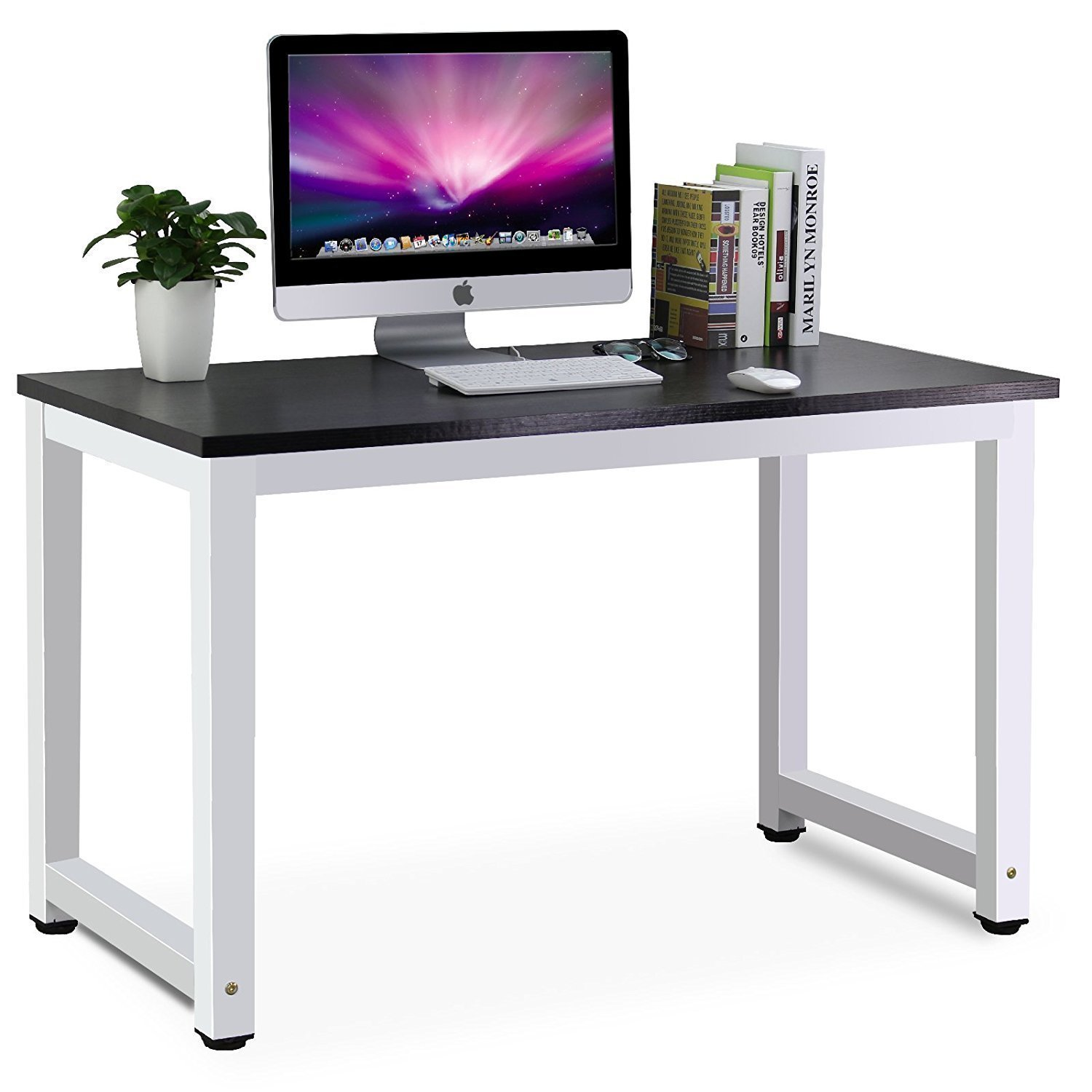 Get Quotations Tribesigns Modern Simple Style Computer Desk Pc Laptop Study Table Workstation For Home Office Black