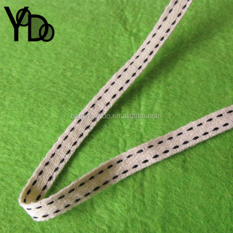 YQ-WA01 Garment accessories 3/8''black stitches cotton herringbone tape