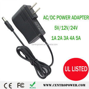 efficiency level VI 12 volt 1 amp 2a 5v 5.5v 3a ac dc power adapter with UK/US/EU/AU plug