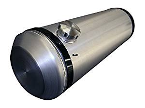 10x33 End Fill Spun Aluminum Gas Tank - with Internal Baffle 11 Gallons - 3/8 NPT