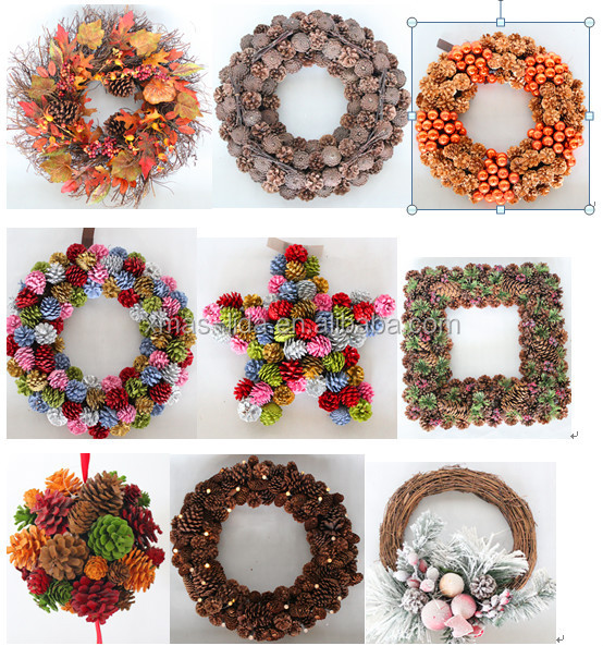 Different Kinds Of Natural Pinecone Christmas Wreaths Christmas ...