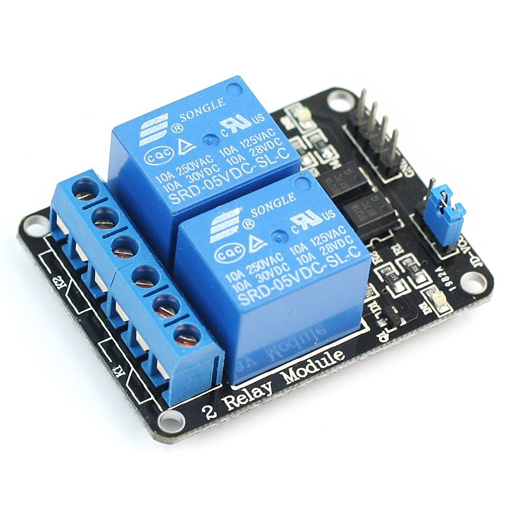 5V 10A 2-Channel Electronic Relay Shield Module for Arduino ARM PIC AVR DSP