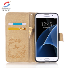 Leather card slot mobile case for Samsung s7(edge) s5 s6 s7 case for Samsung galaxy edge