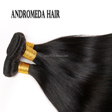 Beautiful Peruvian Straight Virgin Hair 100% Unprocessed Hair Weave Bundles Natural Black Color 100% Remy Hair