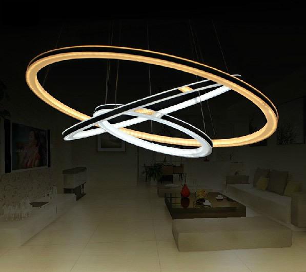 moderne lustre led lampes salon luminaire pendentif lustre lustres d coration de la maison 220 v. Black Bedroom Furniture Sets. Home Design Ideas