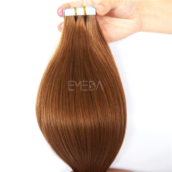 Wholesale grade 9a virgin hair russian double drawn hair for tape in hair extensions