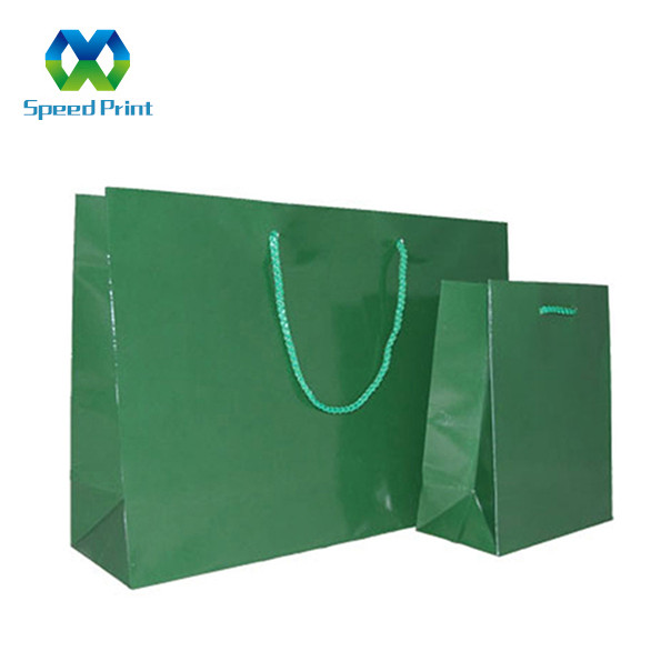 Customised accepted size brand logo printing handmade black paper bag design