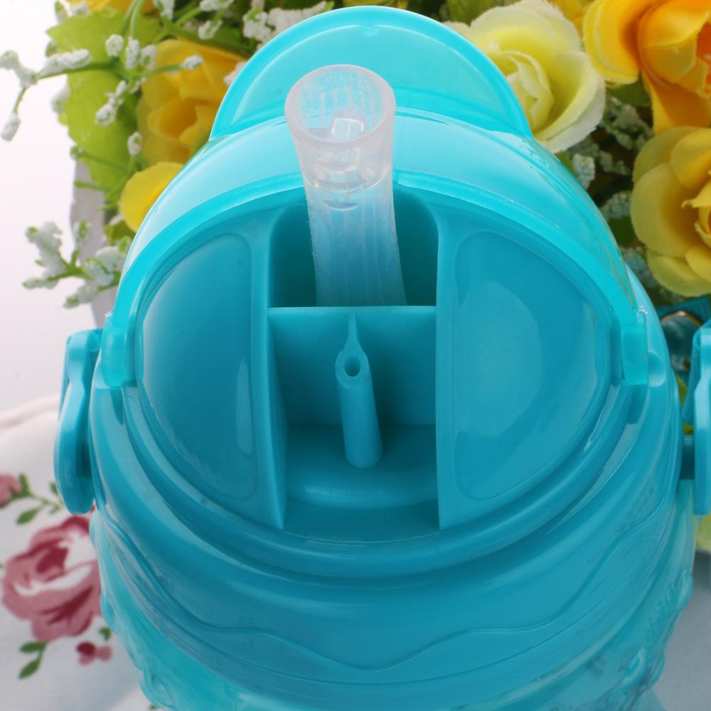 Младенцы солома чаша дети пластик герметичных фляжка для воды строп портативная автоматическое солома чашки