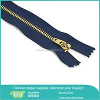 4# Brass teeth metal jeans zipper with 4YG slider metal puller
