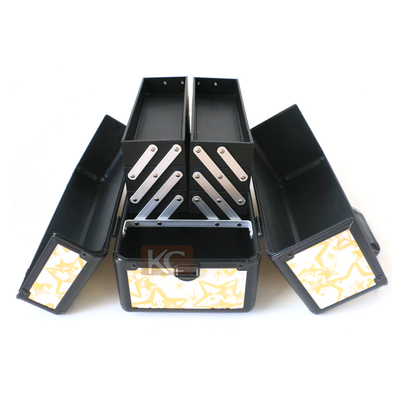 Hot sale Christmas style beauty box aluminum cosmetic organizer elegant ideal cases or aluminum cosmetic box