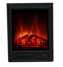 Stylish Electric Fireplace Safe LED Flame Effect Fire Contemporary Fireplace Electric Room Heater