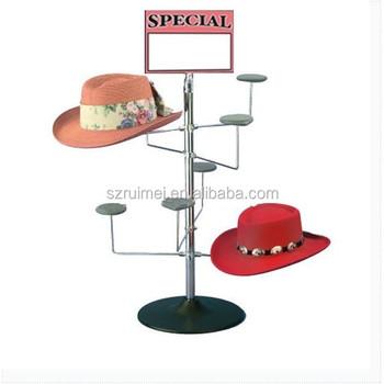 Countertop Spinner Metal Tabletop Hat Rack