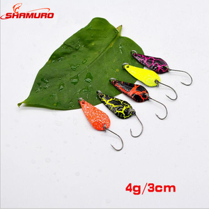3cm 4g Japanese Hard Bait Fresh Water Spoon Copper Lures Fishing Lures
