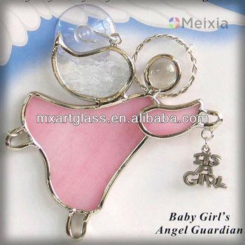 Glas In Lood Engels.Baby Meisje Engel Voogd Glas In Lood Engel Muur Opknoping Voor Kerst