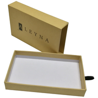 Bracelet packaging paper box with smart style double deck drawer paper gift box