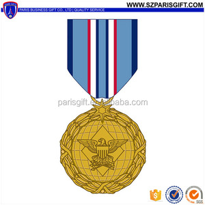 Factory direct sell officer military medal with ribbon and eagle