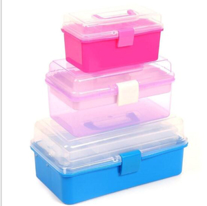 Factory direct selling plastic compartment organizer tool storage boxes with handle
