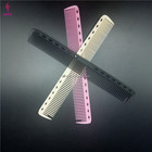 New design carbon fiber long matt black hair trim comb for barber