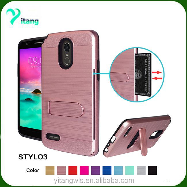 Dual Hybrid Shockproof Kickstand Case For lg stylo 3/stylus 2/g4 stylus Back Cover Case Accessory