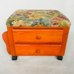 Two Drawers wooden FootStool/FootRest/ottoman