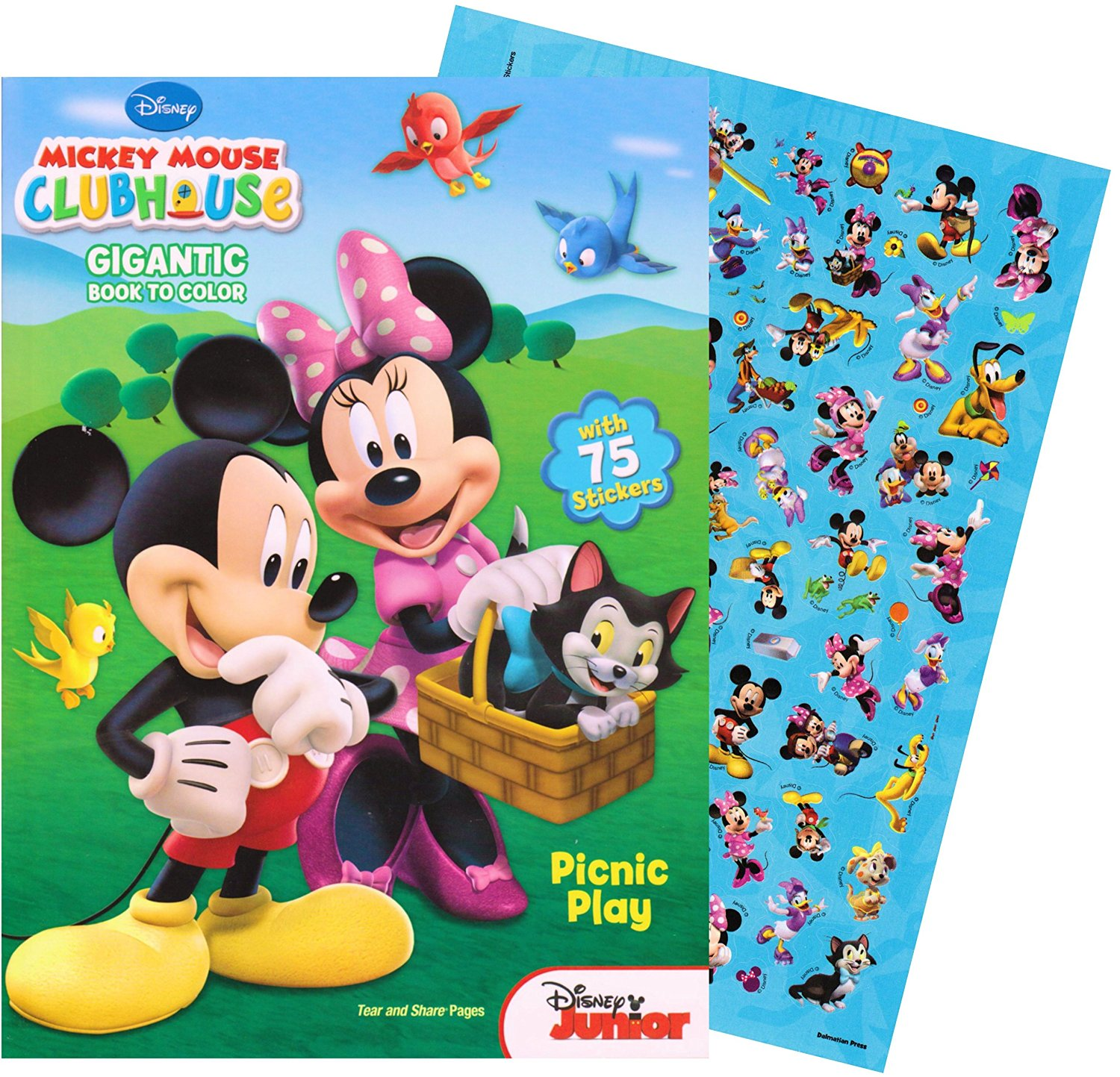 Mickey Mouse GIGANTIC Coloring Book With Stickers 244 Pages