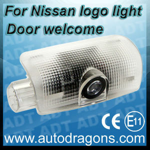 For Nissan LED Car Door Step Laser Projector Light