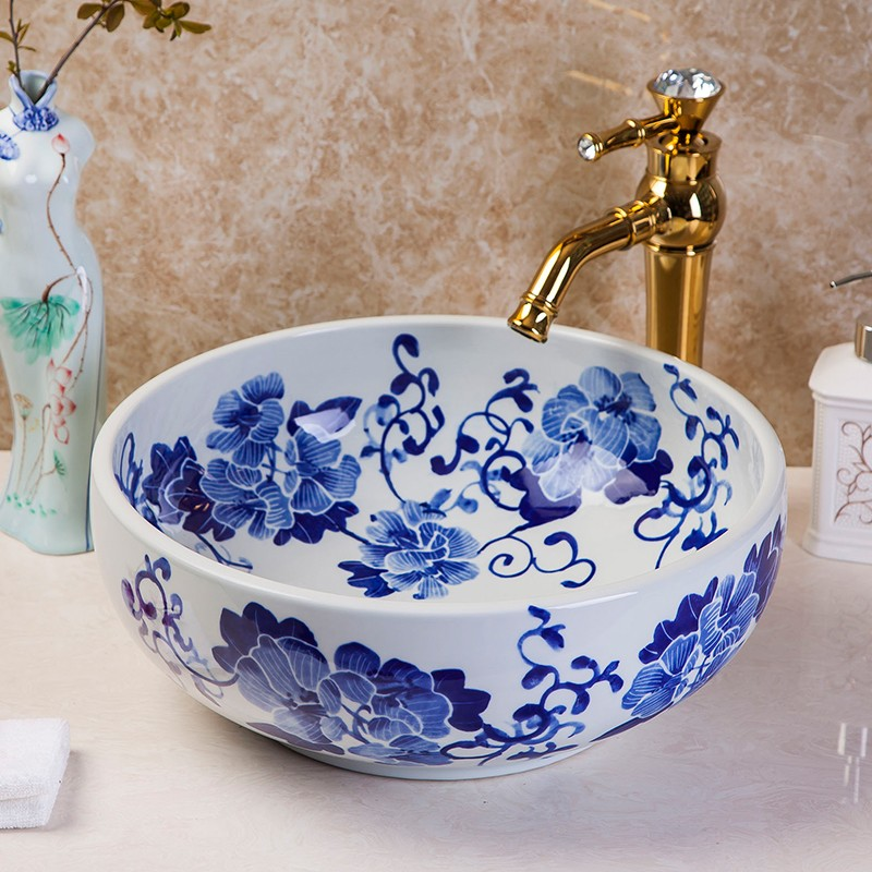 Moroccan Ceramic Hand Painted Bathroom Sinks Wash Sink Vessel Unique Product On