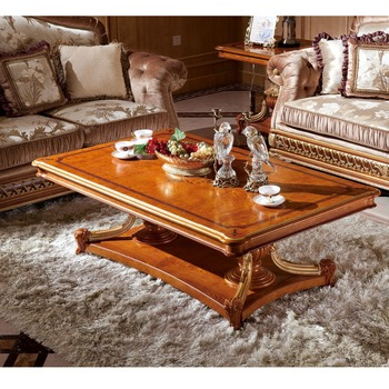 Yb62 Luxury Royal Antique Home Goods Furniture Alibaba Express Veneer Top Coffee Table Wooden Tables Baroque